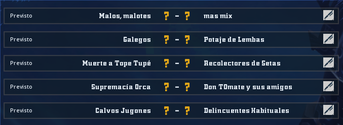 Liga Alianza Mixnotauro 8 - División Cuerno de Oro / Jornada 5 - hasta el domingo 6 de junio Jorna515