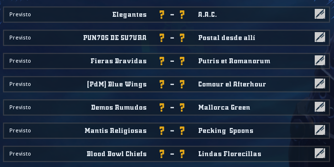 Liga Alianza Mixnotauro 8 - División Cuerno de Bronce / Jornada 5 - hasta el domingo 6 de junio Jorna517