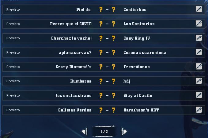 Cuarentena Bowl IV 24H Sábado Santo - Ronda 2 - hasta las 17:00 Ronda218