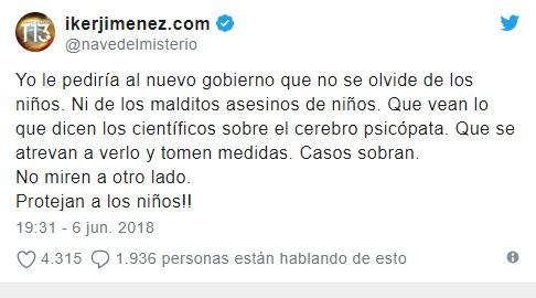 IKER JIMÉNEZ MANDA MENSAJE AL GOBIERNO ESPAÑOL Aaxsvq11