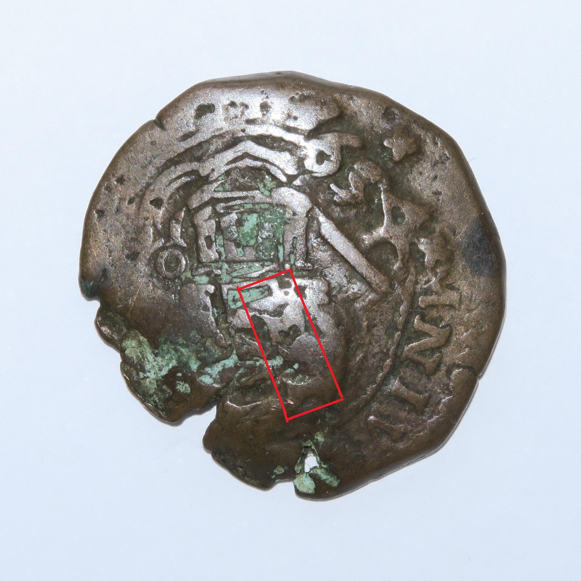 4 Maravedies de Felipe III de 160? (ceca de cuenca) resellados  Anvers10