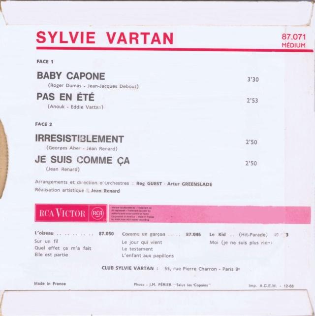REEDITIONS DES 45 T DE SYLVIE EN LABEL ORANGE 86071_12