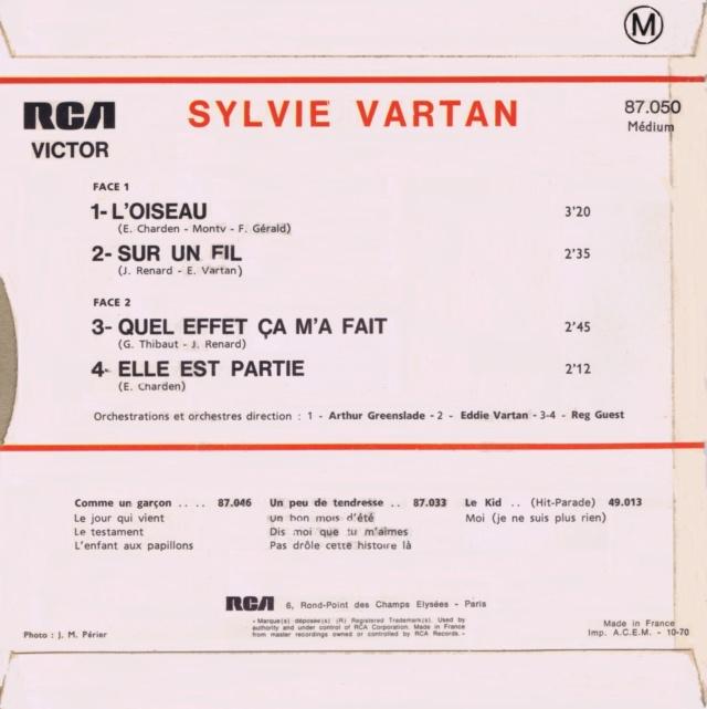 REEDITIONS DES 45 T DE SYLVIE EN LABEL ORANGE 87050_11