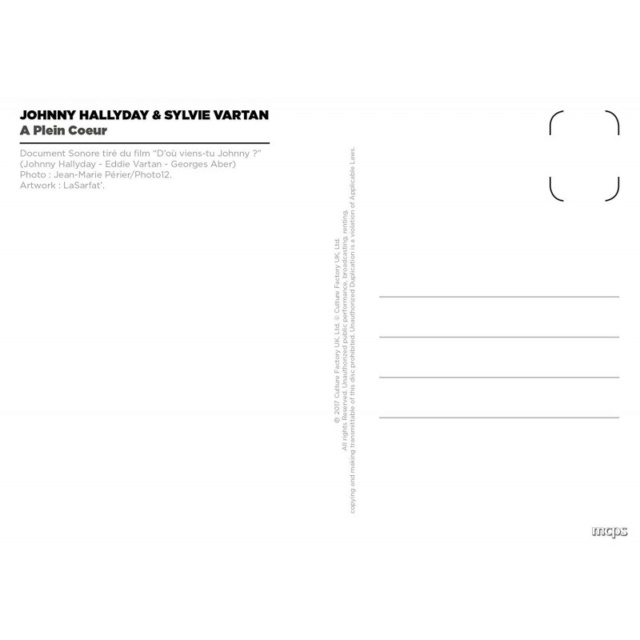 DISQUES/CARTE POSTALE Johnny10