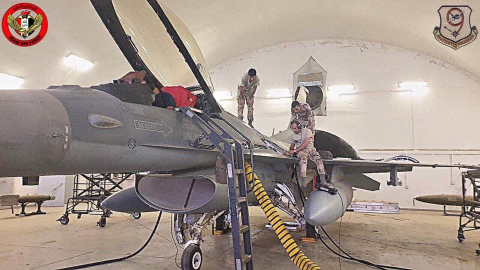 العراق يقوم بصيانه اسطوله من مقاتلات F-16 بكوادر وطنيه عراقيه  10184310
