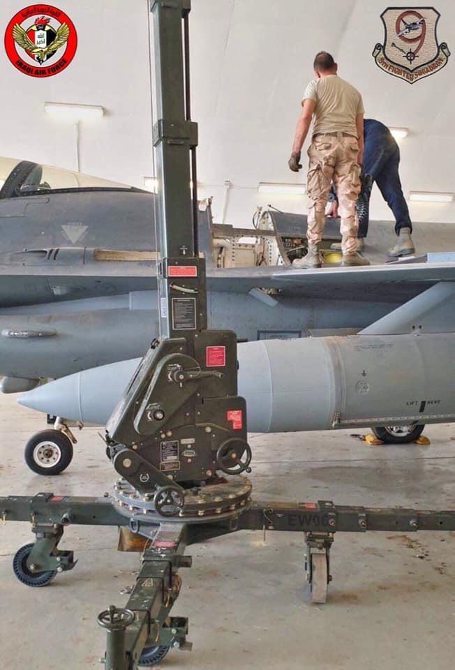العراق يقوم بصيانه اسطوله من مقاتلات F-16 بكوادر وطنيه عراقيه  10239910