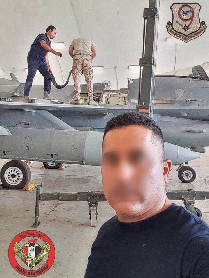 العراق يقوم بصيانه اسطوله من مقاتلات F-16 بكوادر وطنيه عراقيه  10311310