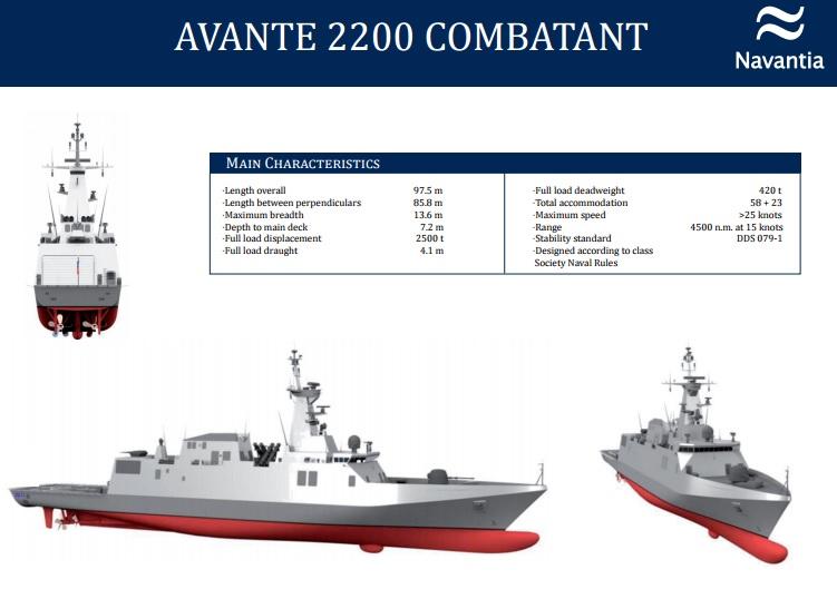 الكورفيت القتالي Avante 2200 Avante10