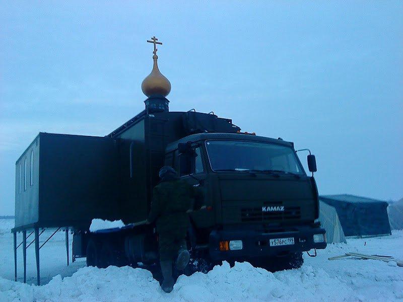 الكنيسه المتنقله ضمن الوحدات العسكريه الروسيه  Dsa8ef10