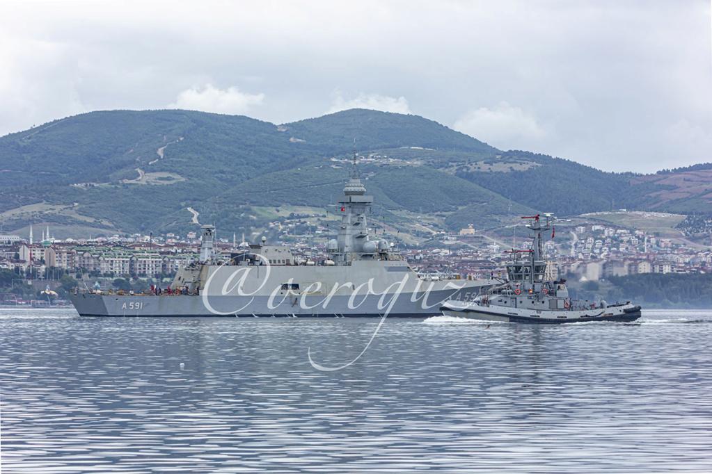 سفينة (Ufuk (A 591 التركية لجمع المعلومات الاستخبارية تبدأ التجارب البحرية Edjn2-10