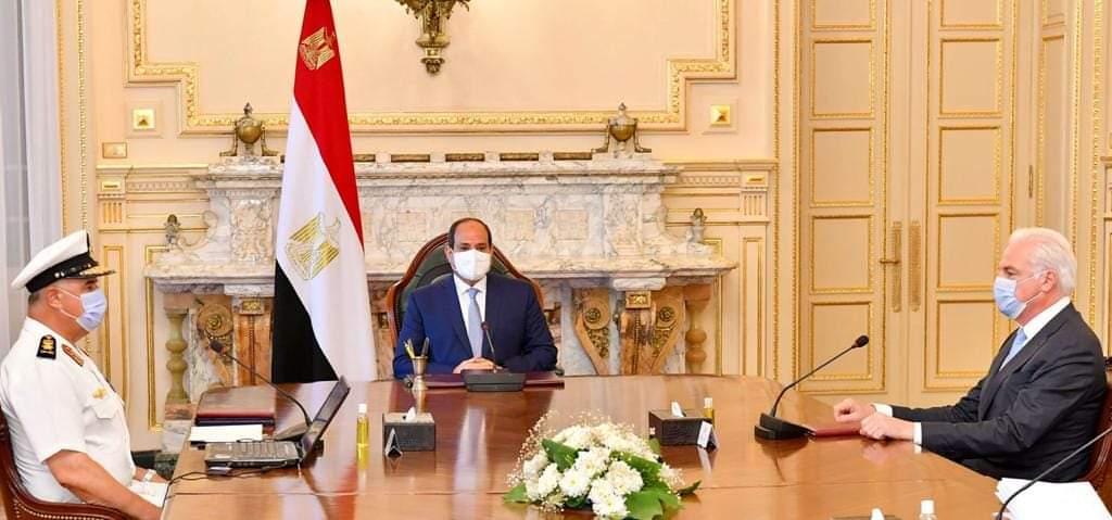 السيسي يبحث أطر التعاون بين مصر وشركة لورسن الألمانية العالمية في صناعة السفن والمدمرات Ef3gxk10