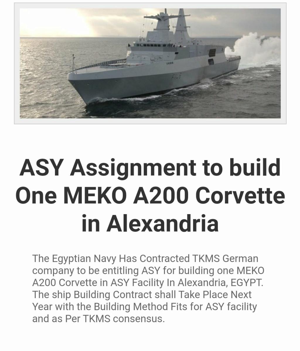 رسميا : ترسانة الاسكندرية ستبدأ بناء أول فرقاطه Meko A200 لصالح البحرية المصريه في عام 2021 Eigx0w10
