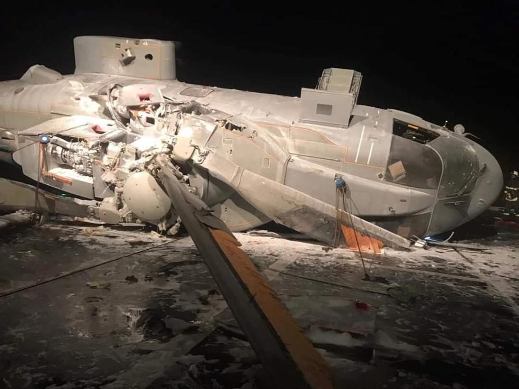تحطم مروحية إيطالية أثناء هبوطها على مدمرة بحرية Eiuqdc10