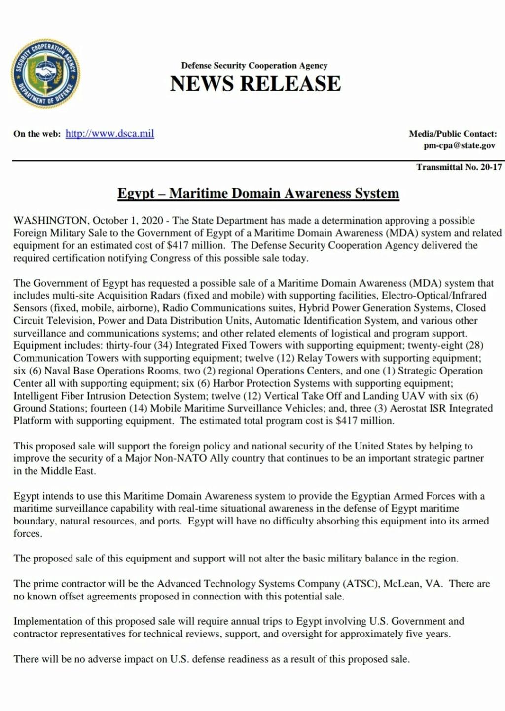 مصر تشتري نظام Martime Domain Awareness System و انظمة طائرات بدون طيار مع مناطيد استطلاع من الولايات المتحدة Ejuokc10