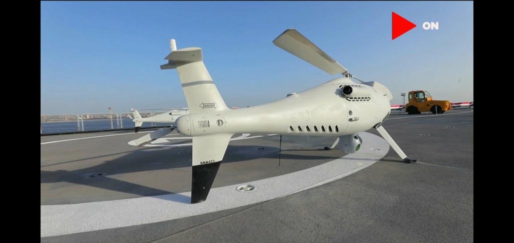 أول ظهور للدرون العمودي Camcopter S-100 على متن حاملة المروحيات المصريه من فئة Mistral- Elzmtx10