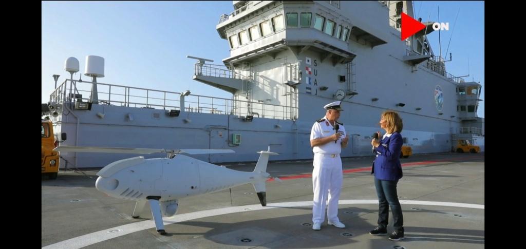 أول ظهور للدرون العمودي Camcopter S-100 على متن حاملة المروحيات المصريه من فئة Mistral- Elzmvx10