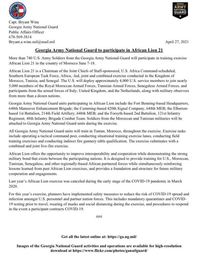 المغرب والولايات المتحدة يتفقان على عقد مناورات اللأسد الأفريقي السنويه في يونيو القادم Ez_l2n10