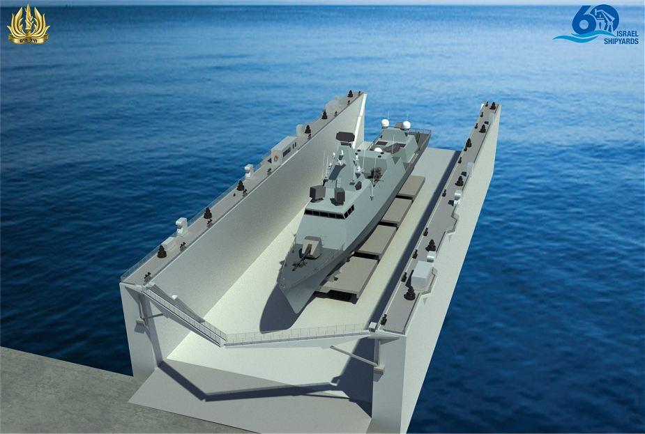 أحواض بناء السفن في إسرائيل  تقدم رصيف عائم للبحرية الإسرائيلية Israel10