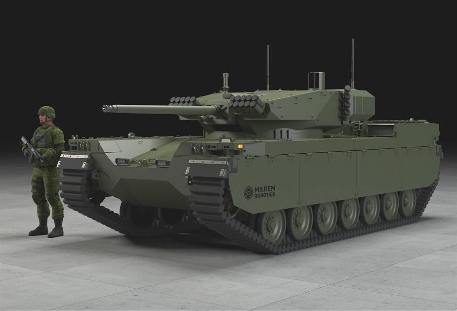المركبة القتالية غير المأهولة من طراز Type-X Milrem11