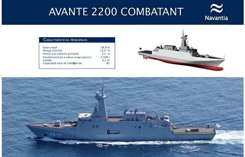 الكورفيت القتالي Avante 2200 Navant10