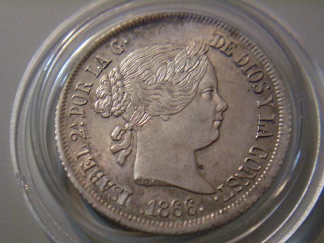 40 centimos de escudo 1866, Isabel 2 40_cts10