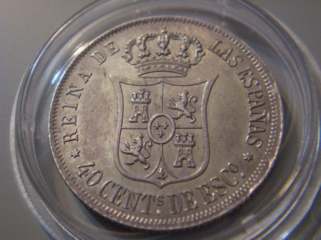 40 centimos de escudo 1866, Isabel 2 40_cts14