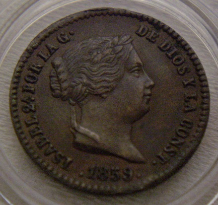 5 centimos de real Isabel 2 Segovia  1859 5_c_de11