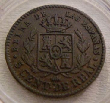 5 centimos de real Isabel 2 Segovia  1859 5_c_de12