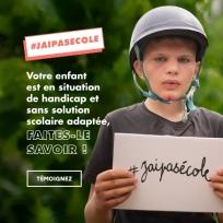 Rentrée scolaire : encore trop d'enfants handicapés sans solution de scolarisation adaptée Jaipas10