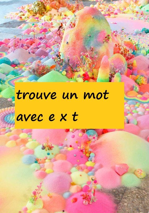 TROUVE UN MOT AVEC X   JEUX  FICHES  551e0110