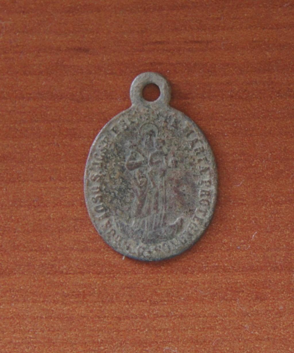 San José con el Niño Jesús / Escudo Papal, s. XIX 3110