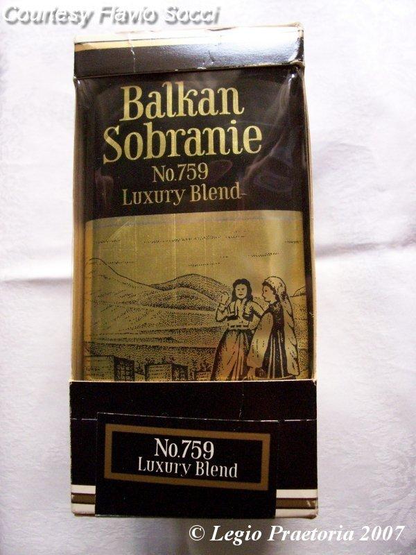 THE BALKAN SOBRANIE. SOBRANIE OF LONDON Bs759010