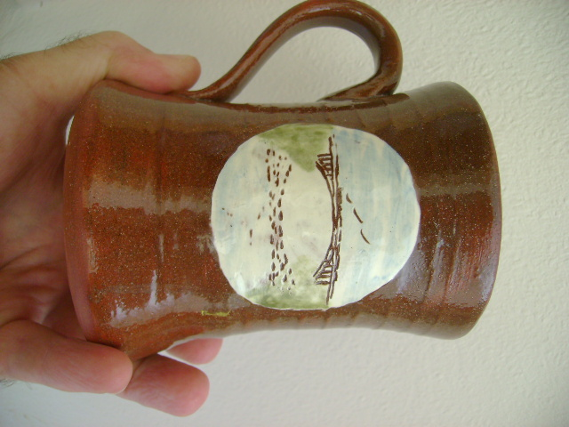 Earthenware tankard  Dsc06816