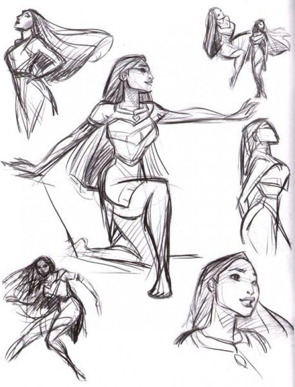 Pocahontas, une Légende Indienne [Walt Disney - 1995] - Page 13 Poses10