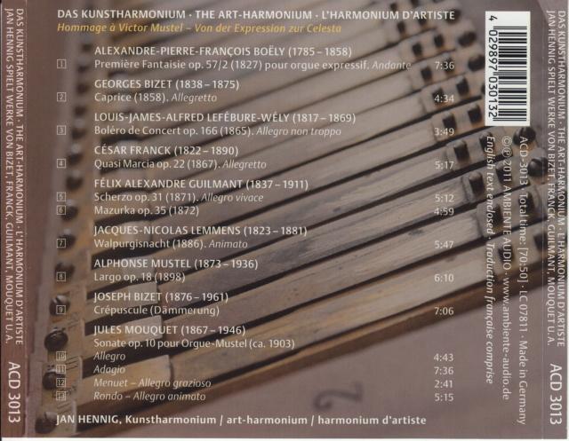 Sigfrid Karg-Elert: Frühe Meisterwerke für Kunstharmonium Acd-3010