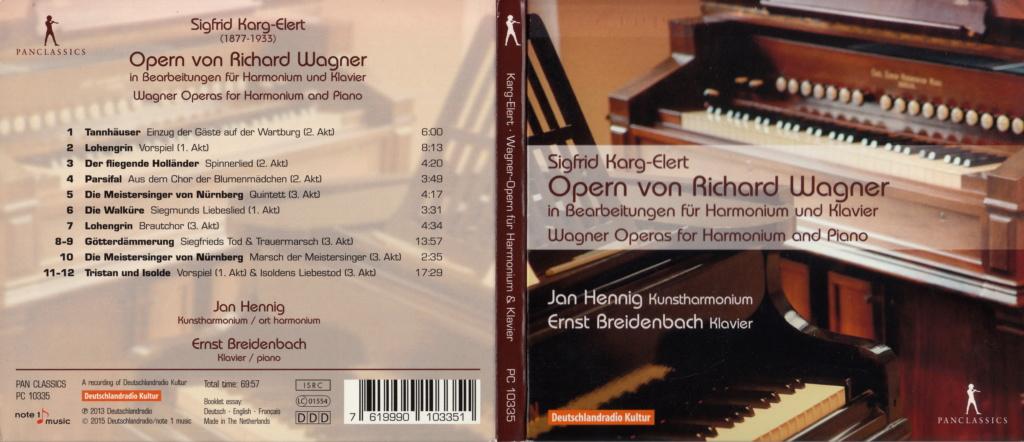 Sigfrid Karg-Elert: Frühe Meisterwerke für Kunstharmonium Pc-wag11