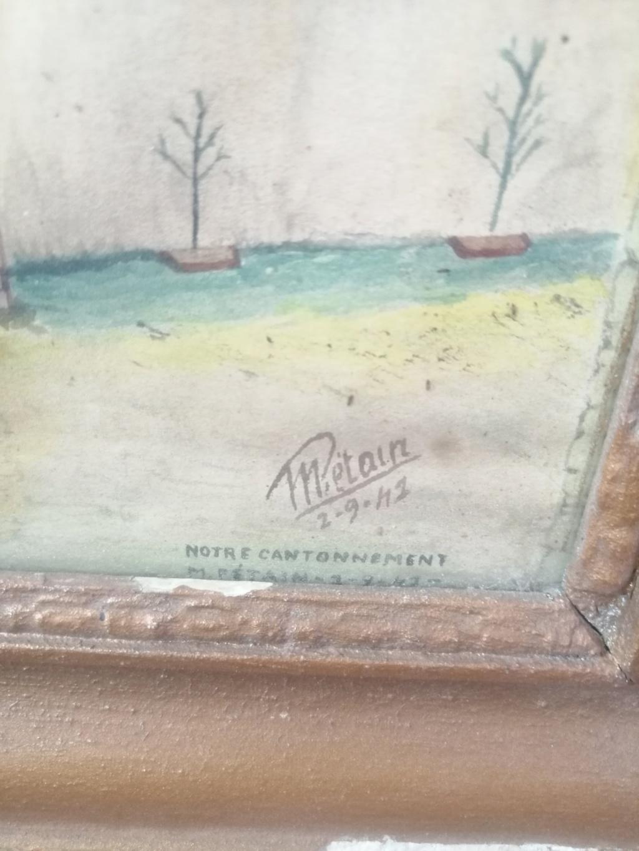 Tableau peint prisonnier de guerre et calendrier 1940 Img_2135