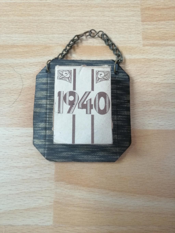 Tableau peint prisonnier de guerre et calendrier 1940 Img_2138