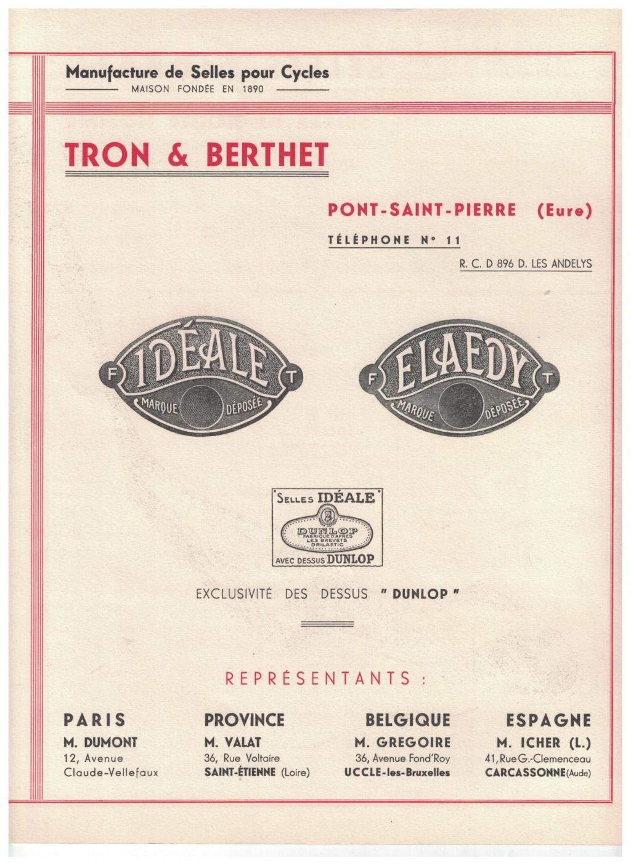 catalogue pub années 40/50   selles IDEALE 210