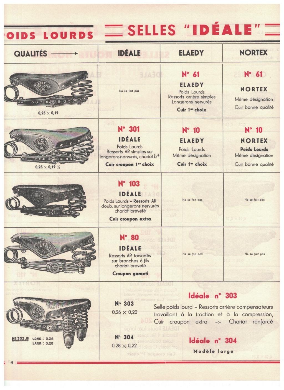 catalogue pub années 40/50   selles IDEALE 410