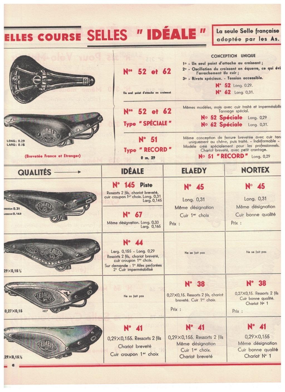 catalogue pub années 40/50   selles IDEALE 610