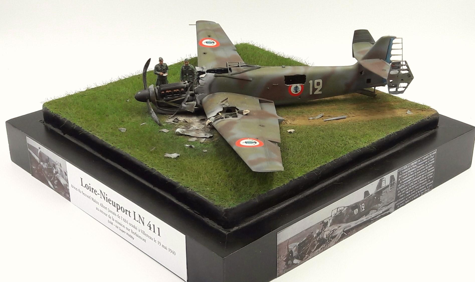 [Concours Aéronavale] Loire Nieuport 401/411 -  Special hobby 1/48 - crash à Villereau -le sacrifice des marins aviateurs du 19 mai 1940 - Mission Berlaimont  Image113