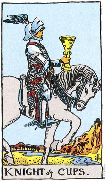 Arcanos Menores - Copas - Rider Waite Knight11