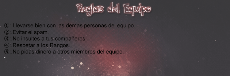 Reglas del Team COffexCream Reglas10