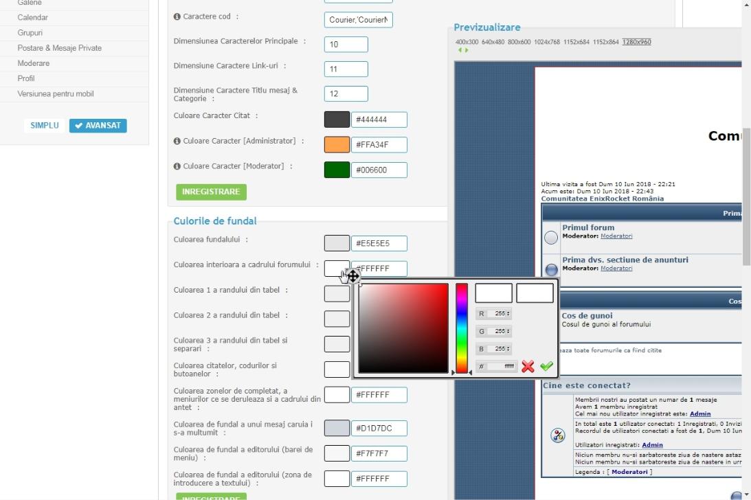 Problemă cadrul și tabelul forumului Screen10