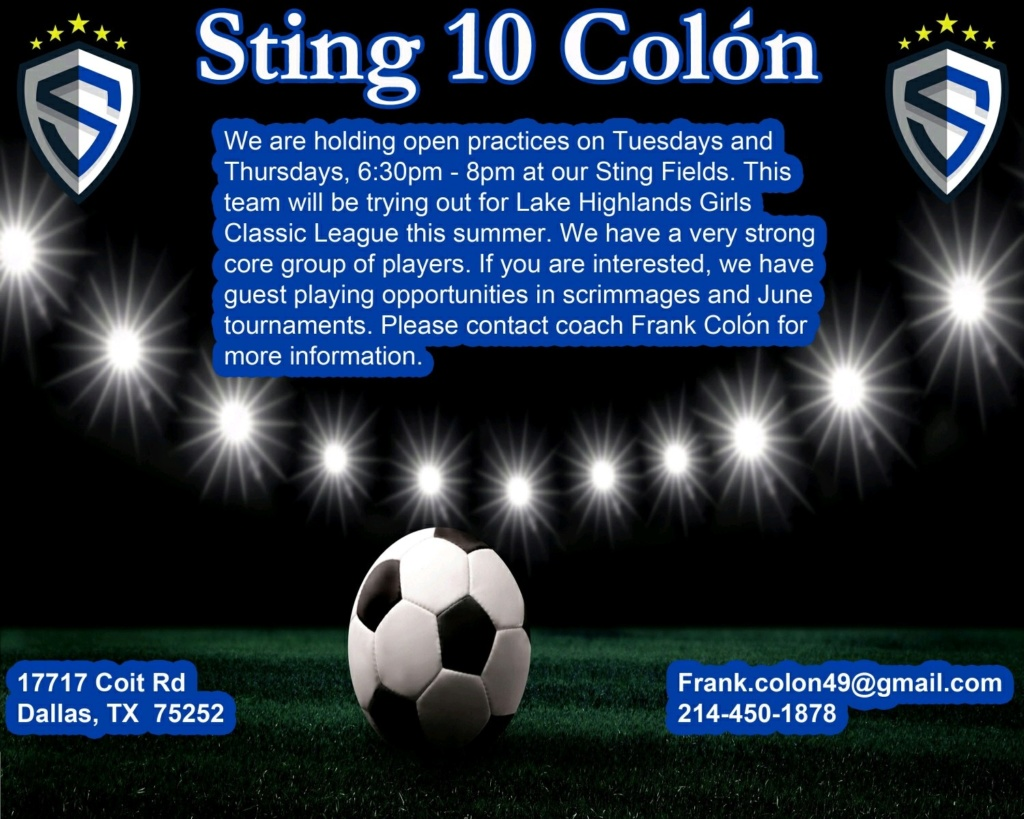 Sting 10 Colón looking for players Img80011