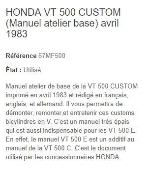 revue technique VTC 500 Manuel14
