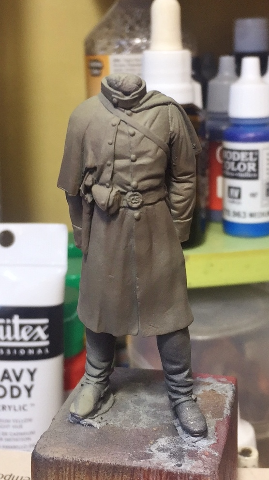 Confederete Infantry Officer - 75mm Elite Miniaturas Filtro10