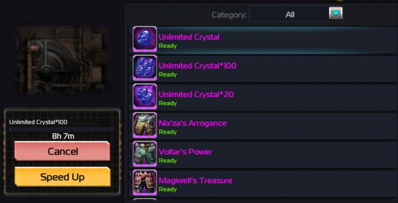 Building unlimited crystals 22222210