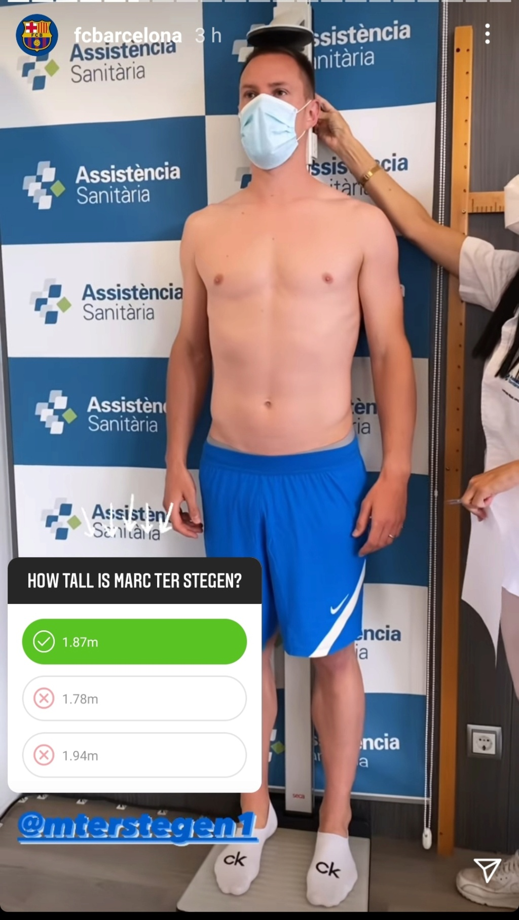 ¿Cuánto mide Marc-André Ter Stegen? - Altura - Real height Img_3064